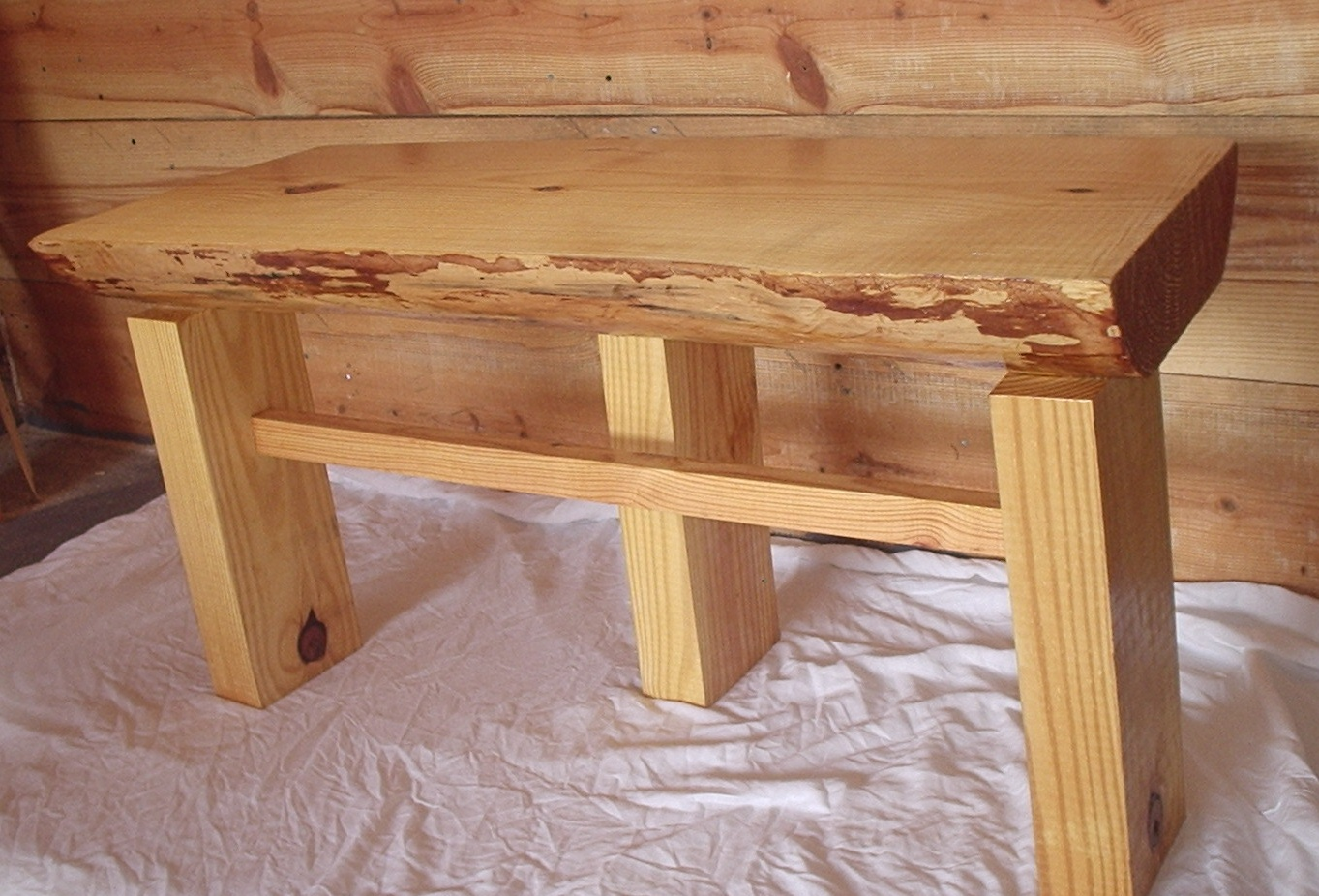 Awesome Tall Benches Part - 1: This Bench Is Approximately 19 1/2 Inches Tall And 38 Inches Wide And The  Seat Is About 4 Inches Thick. This Bench Will Look Lovely On Your Porch Or  In Your ...